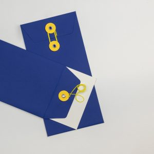 Envelope Dl C/fio Azul
