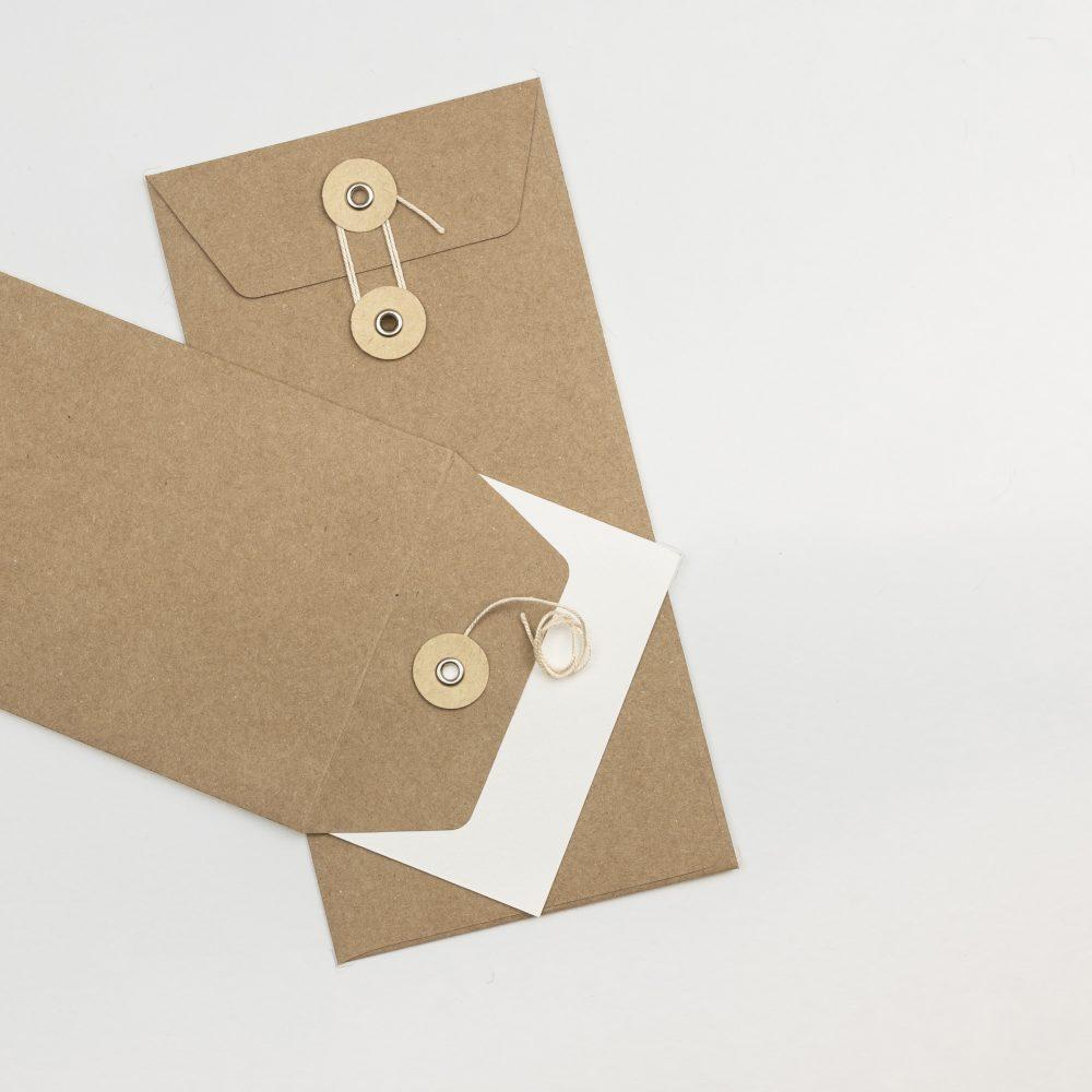Envelope DL C/fio Kraft